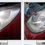 Otro ejemplo de antes y después en pulido de Faros